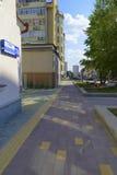 Улица Krasnoarmeyskaya в городе Екатеринбурга Стоковые Изображения RF