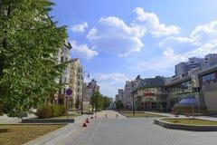 Улица Krasnoarmeyskaya в городе Екатеринбурга Стоковая Фотография