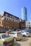 Улица Krasnoarmeyskaya в городе Екатеринбурга Стоковое Изображение RF