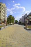Улица Krasnoarmeyskaya в городе Екатеринбурга Стоковые Изображения