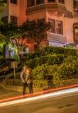 Улица Lombard на ноче Стоковое Изображение