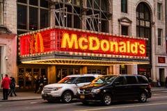 Улица McDonalds 42nd Стоковая Фотография RF