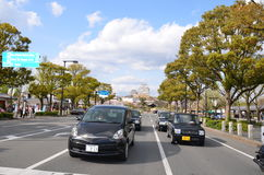 Улица Miyuki Dori в Himeji-городе Стоковое фото RF
