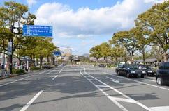 Улица Miyuki Dori в Himeji-городе Стоковые Изображения RF