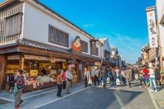 Улица Oharai-machi в городе Ise, префектуре Mie, Японии Стоковое Изображение