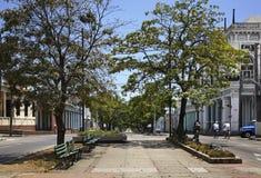 Улица Paseo el Prado в Cienfuegos Куба стоковое изображение rf