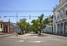 Улица Paseo el Prado в Cienfuegos Куба стоковая фотография