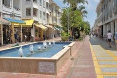 Улица Pedestrianized в Kemer стоковое фото