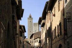Улица San Gimignano Стоковое Изображение RF
