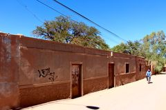 Улица San Pedro de Atacama стоковое фото