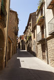 Улица Sant Pau в Solsona, Лериде, Каталонии, Испании Стоковое Изображение