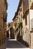 Улица Sant Pau в Solsona, Лериде, Каталонии, Испании Стоковое Фото