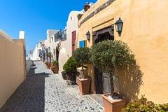 Улица Santorini, Греции Стоковое Изображение RF