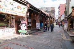Улица Shenkeng старая - столица тофу в Тайбэе, Тайване Стоковые Изображения