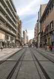 Улица Shoping Сарагосы Стоковые Изображения