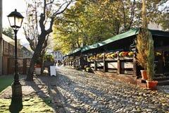 Улица Skadarlija в Белграде Сербия Стоковое Изображение