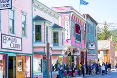 Улица Skagway Аляски стоковое изображение