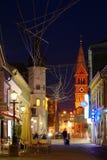 Улица Slovenska, Марибор, Словения Стоковые Изображения
