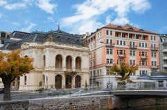 Улица Stara Louka Karlsbad (Karlovy меняет) Стоковые Изображения