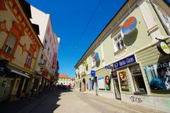 Улица Vetrinjska, Марибор, Словения стоковая фотография rf