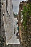 Улица Villefranche de Conflent, Франции стоковые фотографии rf