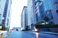 Улица Wangfujing коммерчески на ноче стоковая фотография