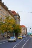 Улица Wilsdruffer в Дрездене Стоковые Изображения RF