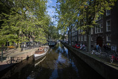 Улицы Амстердама Стоковая Фотография