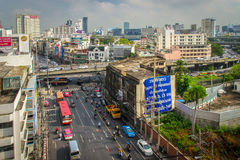 Улицы Бангкока Стоковое Изображение