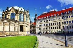 Улицы Дрездена старый городок стоковые фото