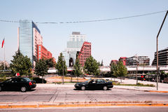 Улицы и здания Сантьяго, Чили стоковое изображение rf