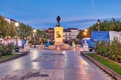 Улицы и средневековая ярмарка & x28; closed& x29; в Alcala de Henares, рассвете во время недели Cervantes & x28; 10/06/2016& x29; Стоковое Изображение