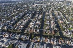 Улицы канала Венеции Калифорнии воздушные Стоковое Изображение RF