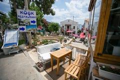 Улицы курортного города Kalkan Турции Стоковая Фотография