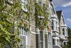 Улицы Лондона, голубого дома Стоковая Фотография RF
