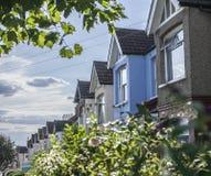 Улицы Лондона, голубого дома Стоковое Изображение RF