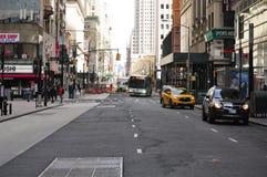 Улицы Манхаттан Нью-Йорка Стоковые Фотографии RF