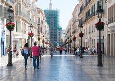 Улицы Малаги, Испания Стоковое Изображение RF