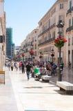 Улицы Малаги, Испания Стоковое Фото
