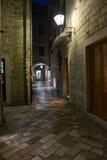 Улицы ночи Kotor Стоковая Фотография RF