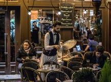 Улицы Парижа перед atentats в ноябре опустошительными Стоковое Изображение RF