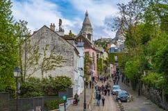 Улицы Парижа Стоковые Изображения RF