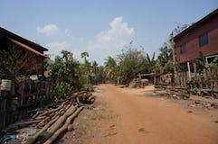 Улицы песка в деревне Стоковое Изображение