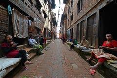 Улицы пригорода Катманду, Непал Стоковая Фотография RF