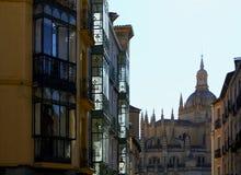 Улицы Сеговии, Испании стоковая фотография rf