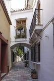 Улицы старого городка Марбельи, Андалусии Стоковая Фотография RF