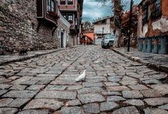 Улицы старого Пловдива стоковые изображения