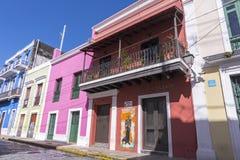 Улицы старого Сан-Хуана Стоковая Фотография