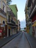 Улицы старого Сан-Хуана Стоковые Фотографии RF