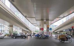 Улицы Шанхай, Китая Стоковое фото RF